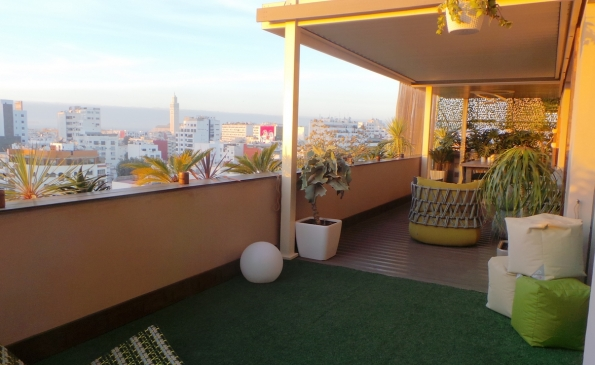 Appartement meuble terrasse location Gauthier Casablanca
