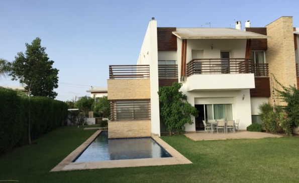 Villa meublée location Bouskoura Casablanca